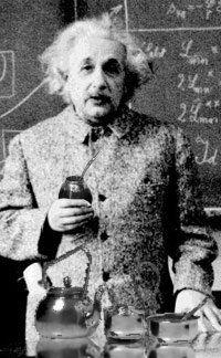 Einstein tomando mate'