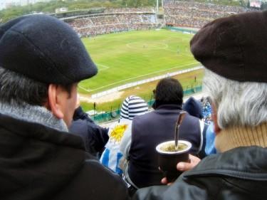 Uruguayan fans tomando mate'