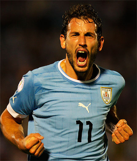 Cristian Stuani scored the second against Jordan